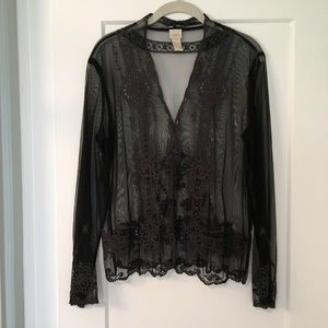 Gorgeous sheer lace blouse